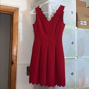 Banana Republic Scallop Red Dress